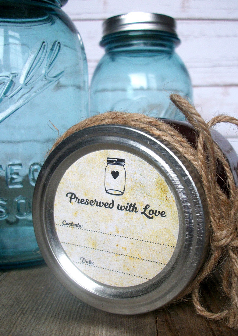 Vintage Preserved with Love Jam Jar Labels | CanningCrafts.com