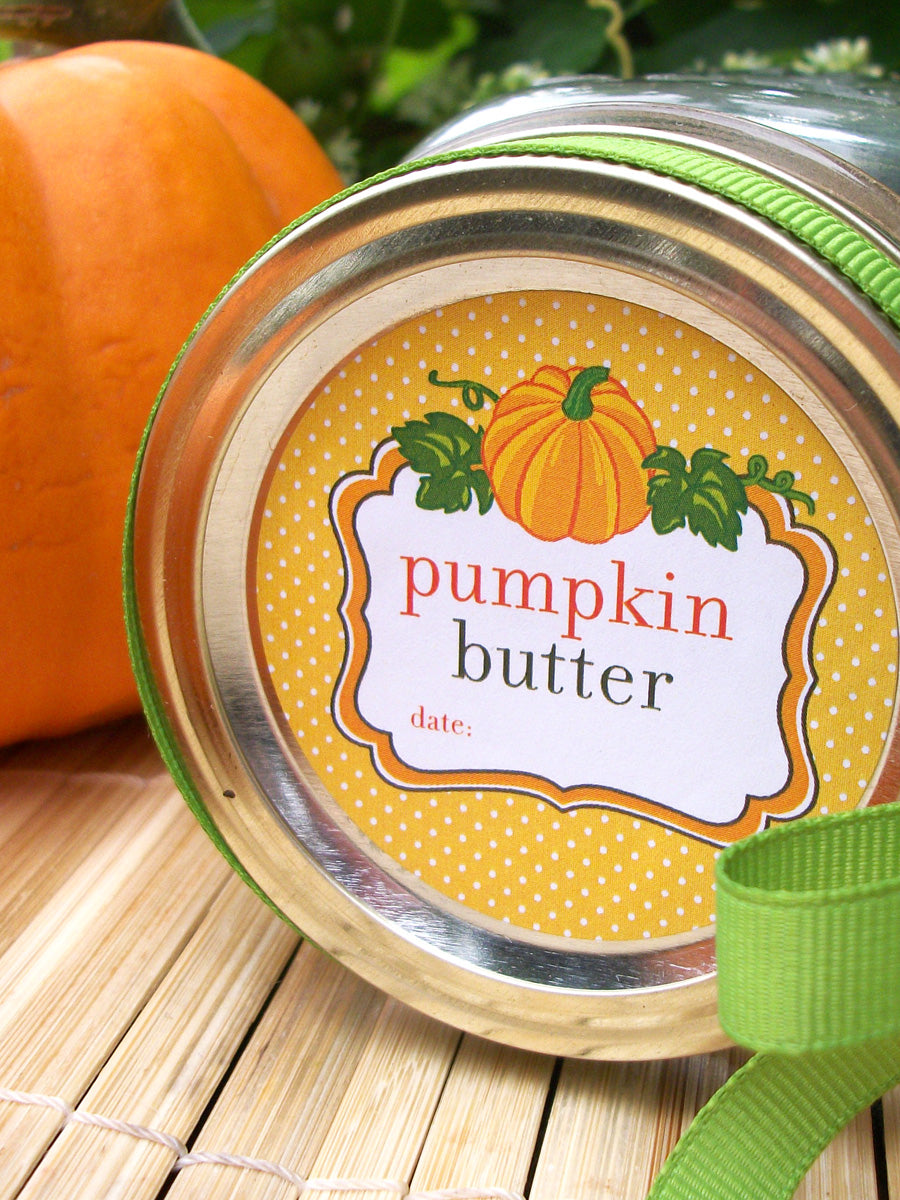 Pumpkin Butter Canning Jar Labels | CanningCrafts.com