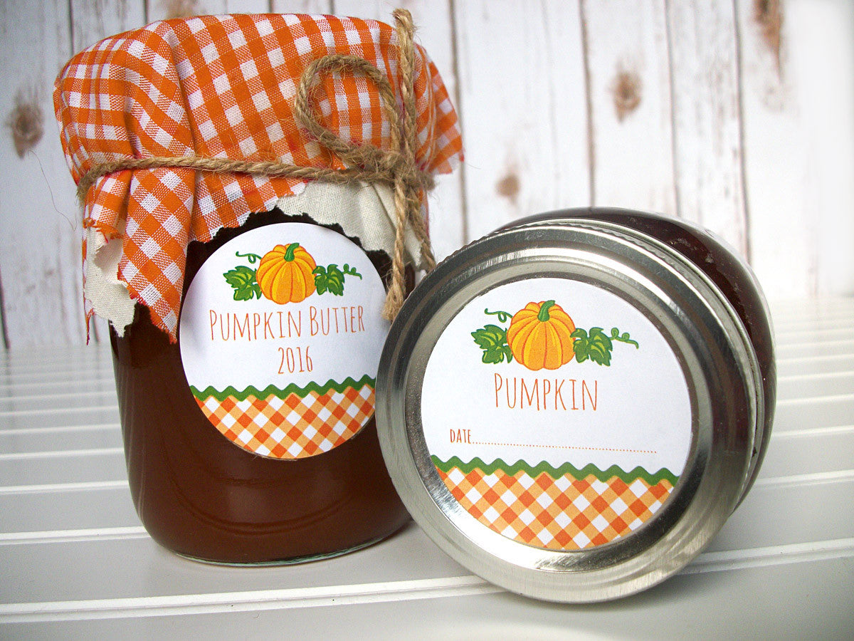 pumpkin butter canning labels