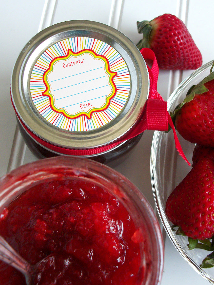 Rainbow Mason Canning Jar Labels | CanningCrafts.com