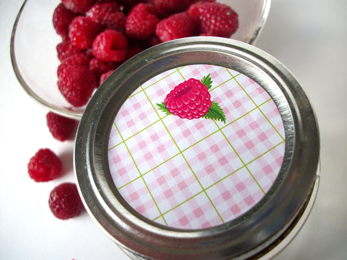 Red Raspberry Fruit Canning Labels | CanningCrafts.com