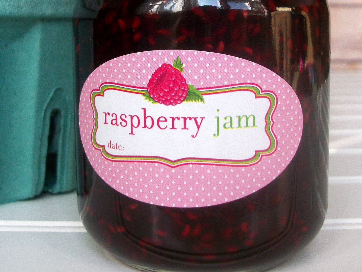 Oval Raspberry Jam Canning Labels | CanningCrafts.com