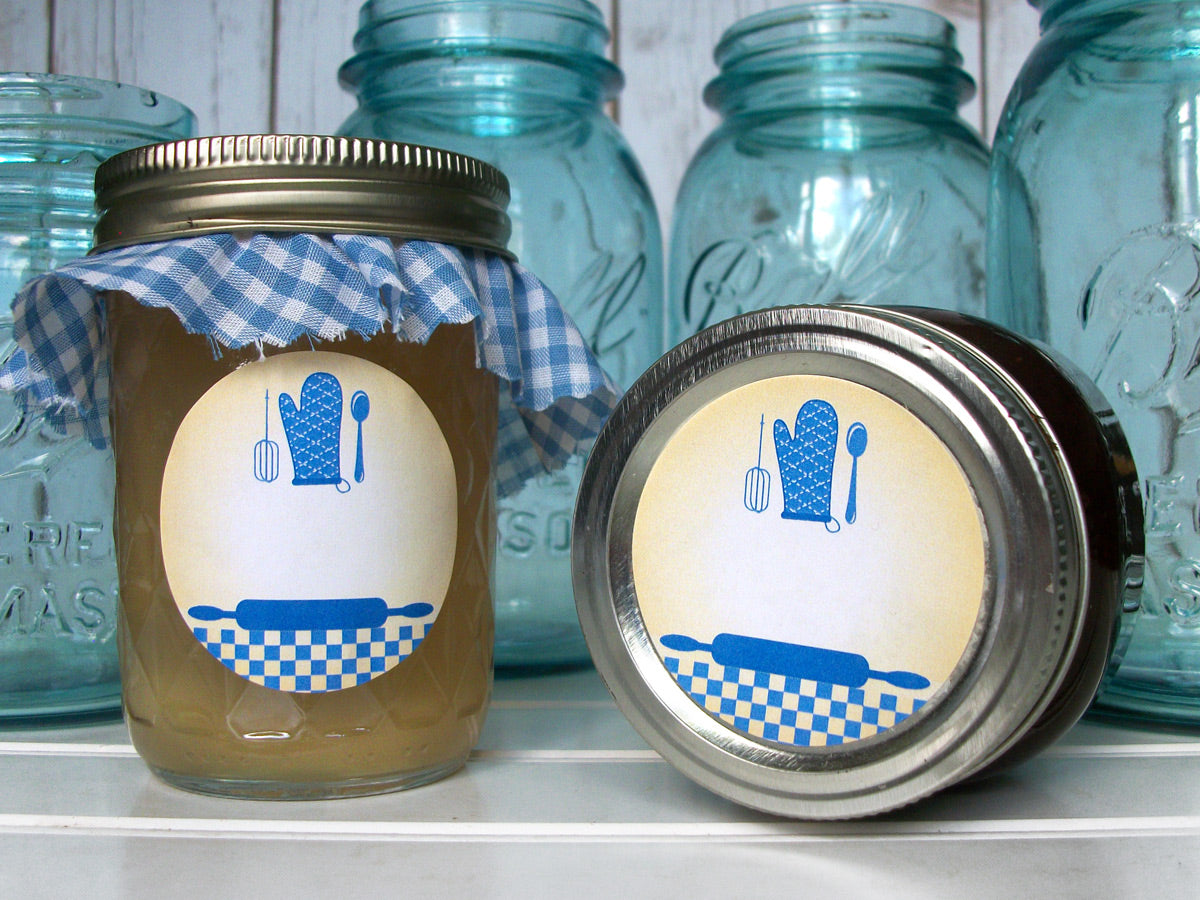Blue Country Kitchen Mason Jar Labels | CanningCrafts.com