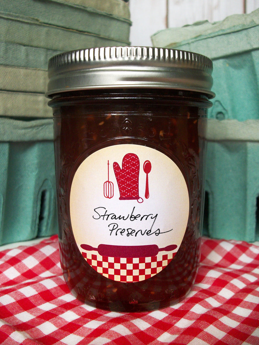 Red Country Kitchen Jam & Jelly JarLabels | CanningCrafts.com