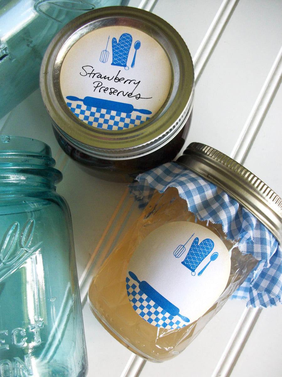Blue Country Kitchen Canning Labels | CanningCrafts.com