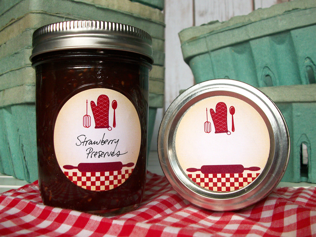 Red Country Kitchen Canning Labels | CanningCrafts.com