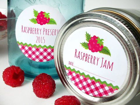 Red Raspberry Canning Labels | CanningCrafts.com