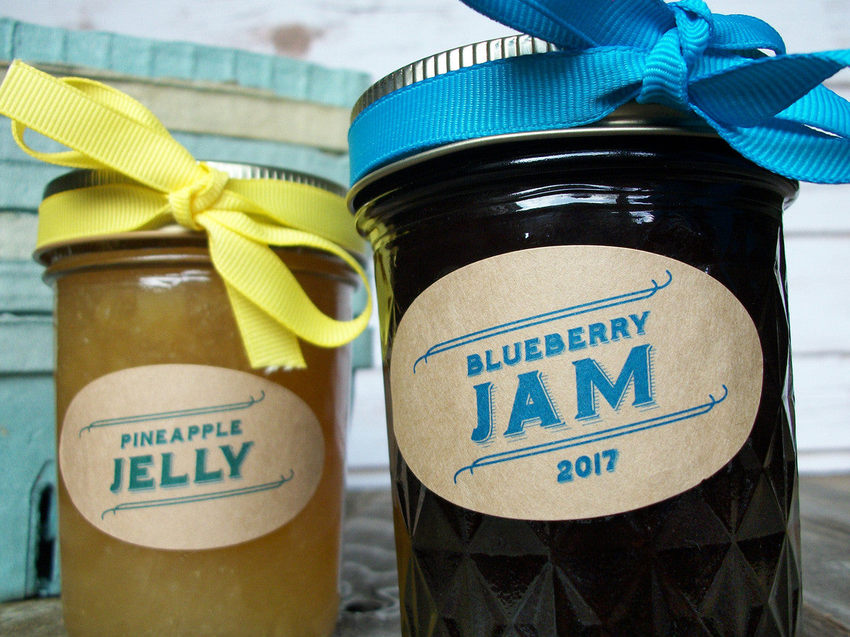 Quilted oval canning jar labels | CanningCrafts.com