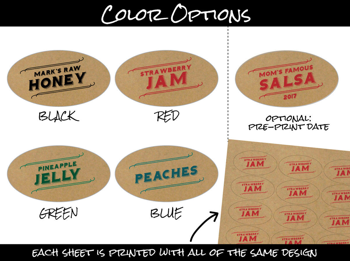 Custom Oval Canning Labels | CanningCrafts.com