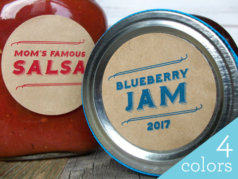 Retro Custom Canning Labels | CanningCrafts.com