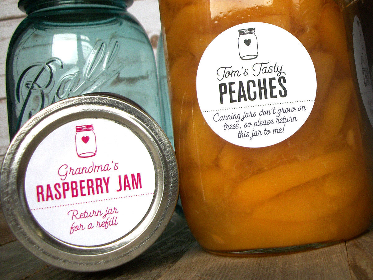 return jar custom canning labels | CanningCrafts.com