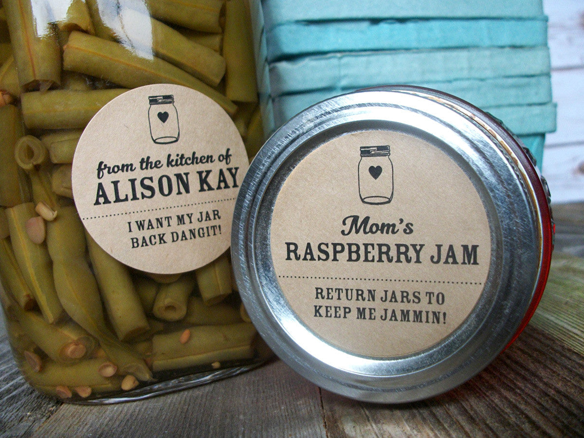 return jar kraft paper canning labels | CanningCrafts.com