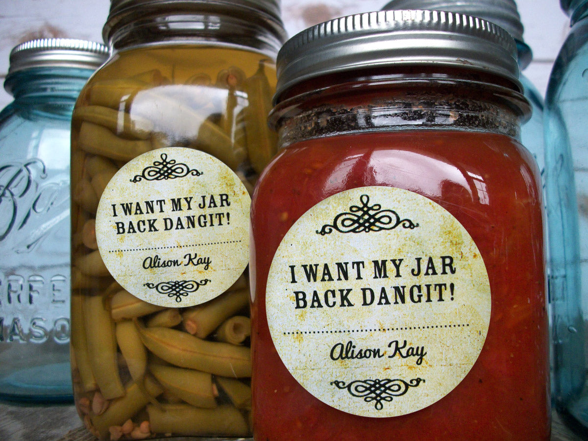 return may jar dangit mason jar labels | CanningCrafts.com