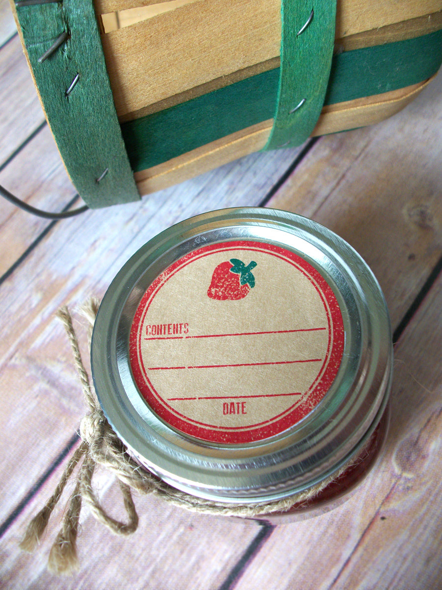 Kraft Rubber Stamp Strawberry Canning Labels Jam Amp Jelly Jar Stickers Canningcrafts