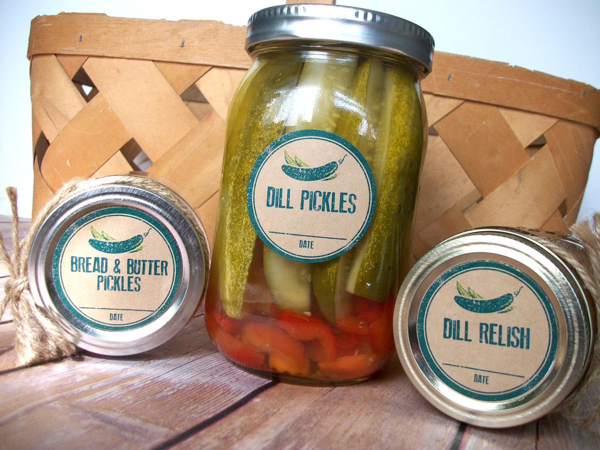 Kraft paper Pickle Canning Jar Labels | CanningCrafts.com