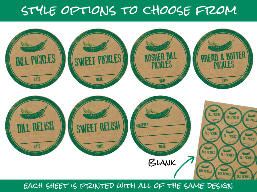 Rubber Stamp Pickle Canning Labels | CanningCrafts.com