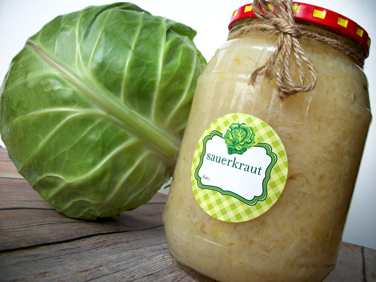 Sauerkraut Canning Jar Labels | CanningCrafts.com