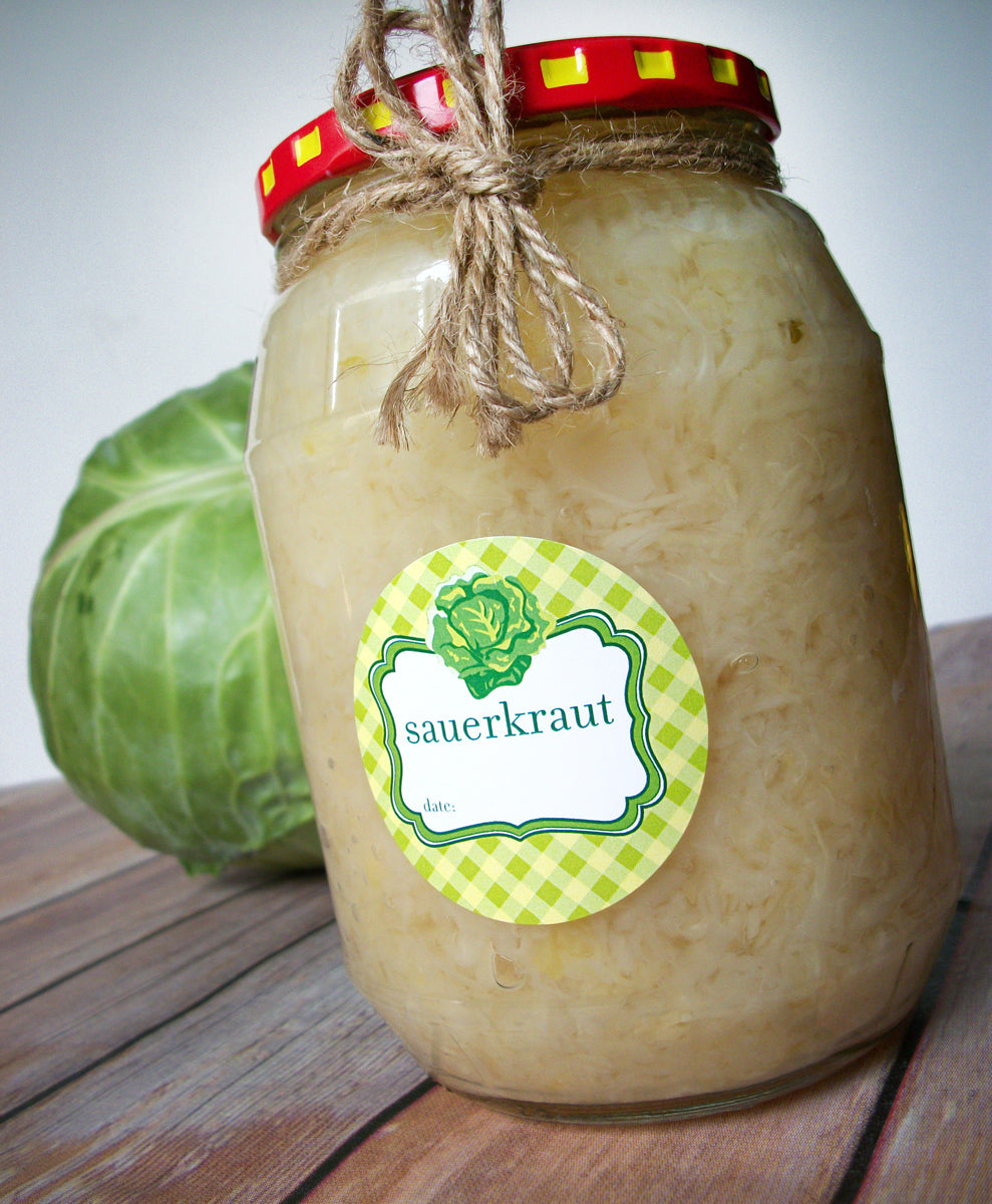 Sauerkraut Canning Labels | CanningCrafts.com