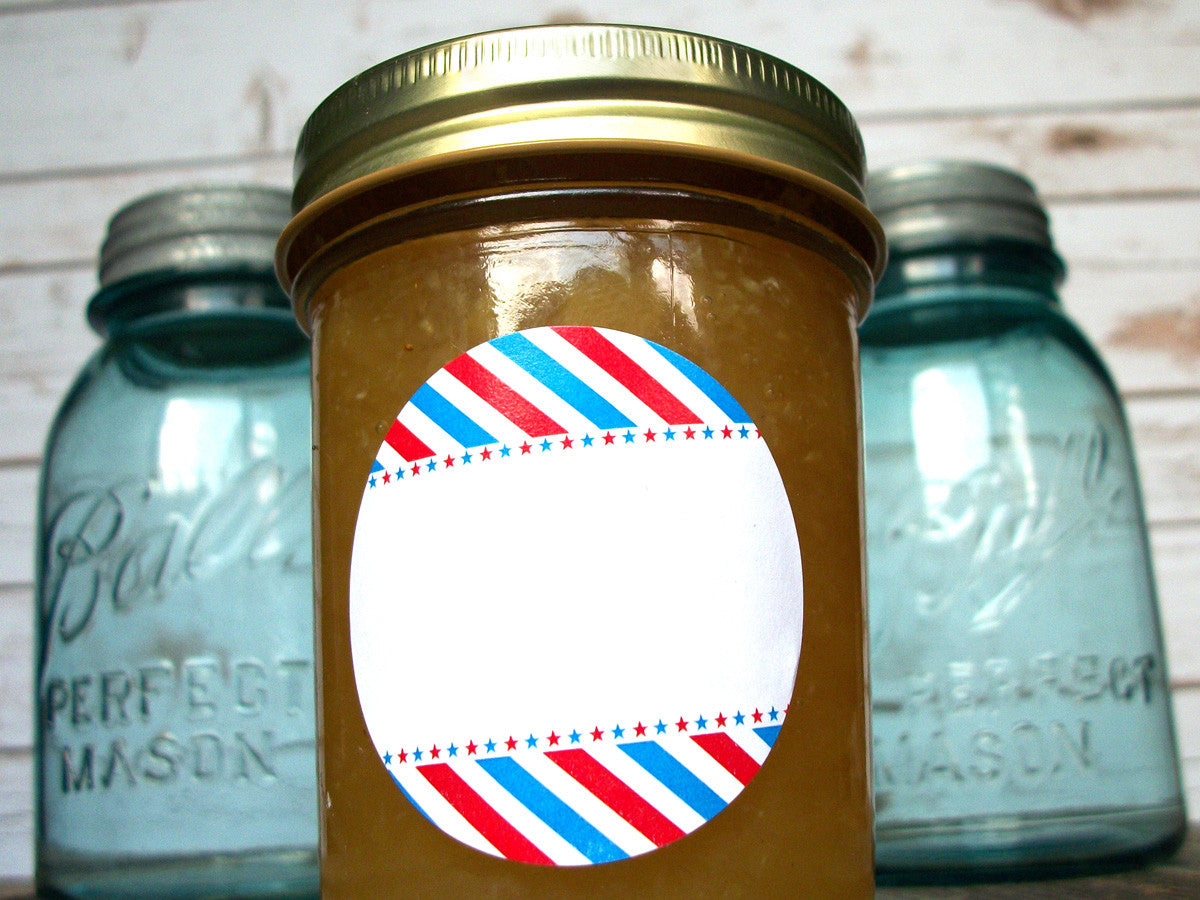 Patriotic canning jar labels | CanningCrafts.com