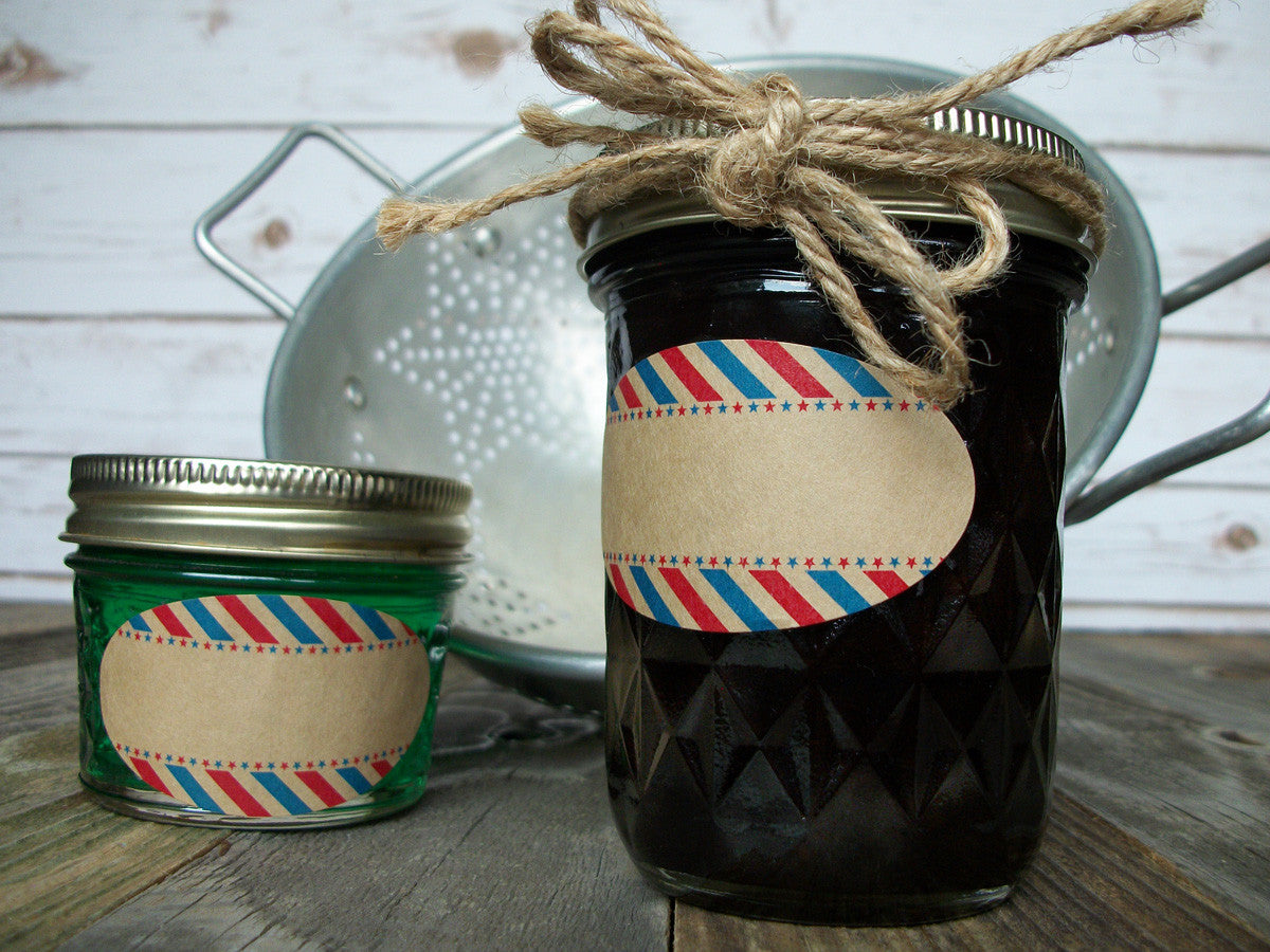 Patriotic Oval mason jar labels | CanningCrafts.com