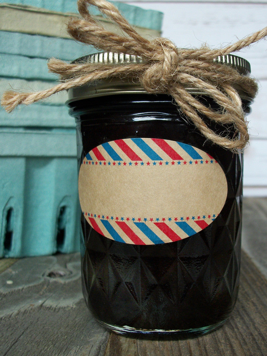 Oval quilted canning jar labels | CanningCrafts.com