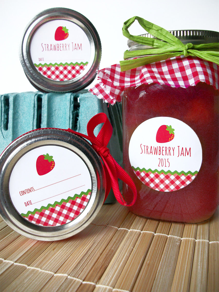 Strawberry Jam Canning Labels | CanningCrafts.com