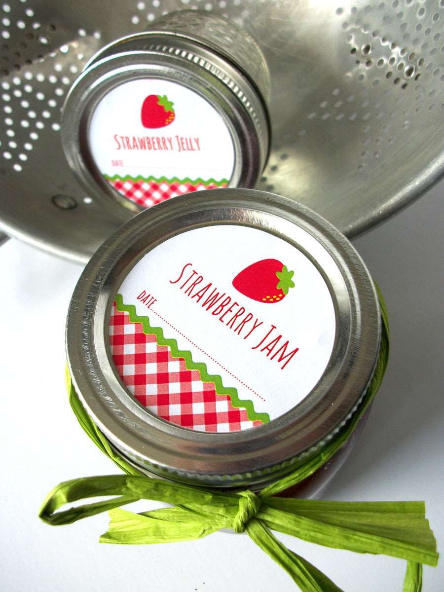 Strawberry Jam & Jelly Canning Labels | CanningCrafts.com