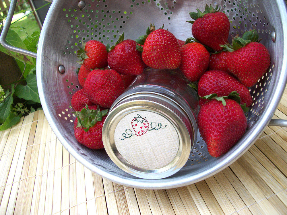 Strawberry Preserves Canning Labels | CanningCrafts.com
