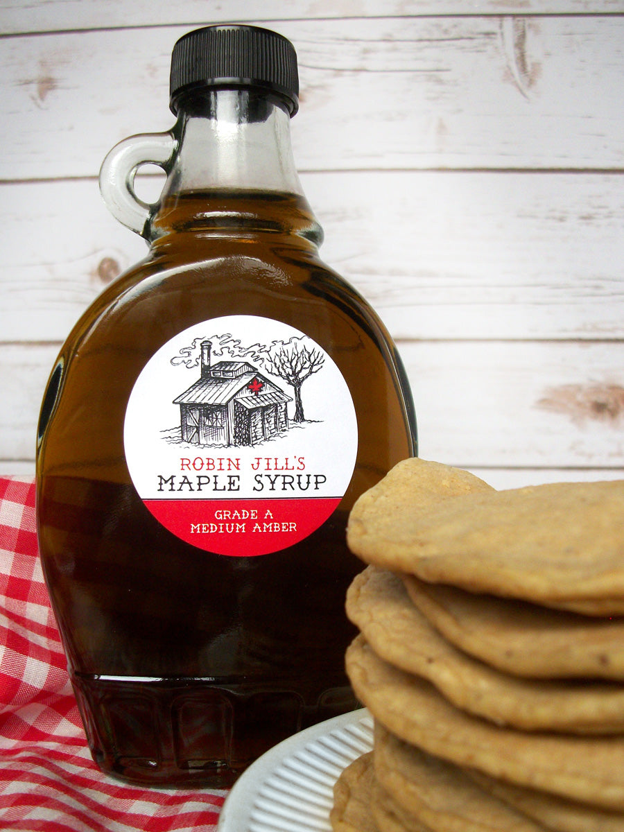 Custom Sugar Shack Maple Syrup Bottle Labels | CanningCrafts.com