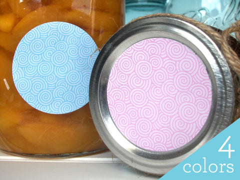 Colorful Swirly Canning Labels | CanningCrafts.com
