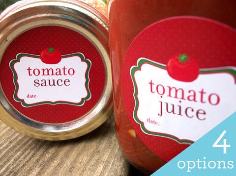 Tomato Juice & Sauce Canning Jar Labels | CanningCrafts.com