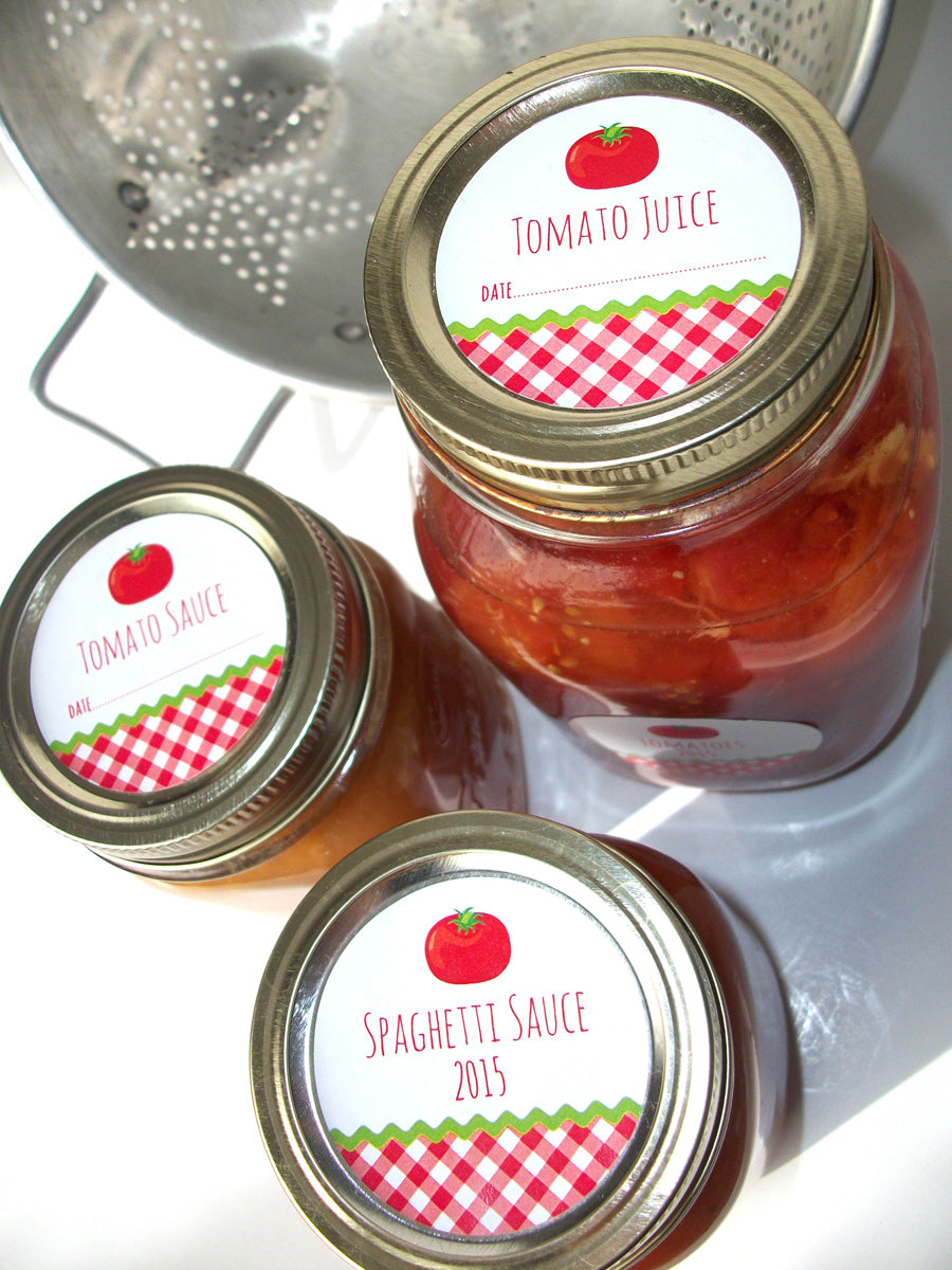 Tomato Sauce & Juice Canning Labels | CanningCrafts.com