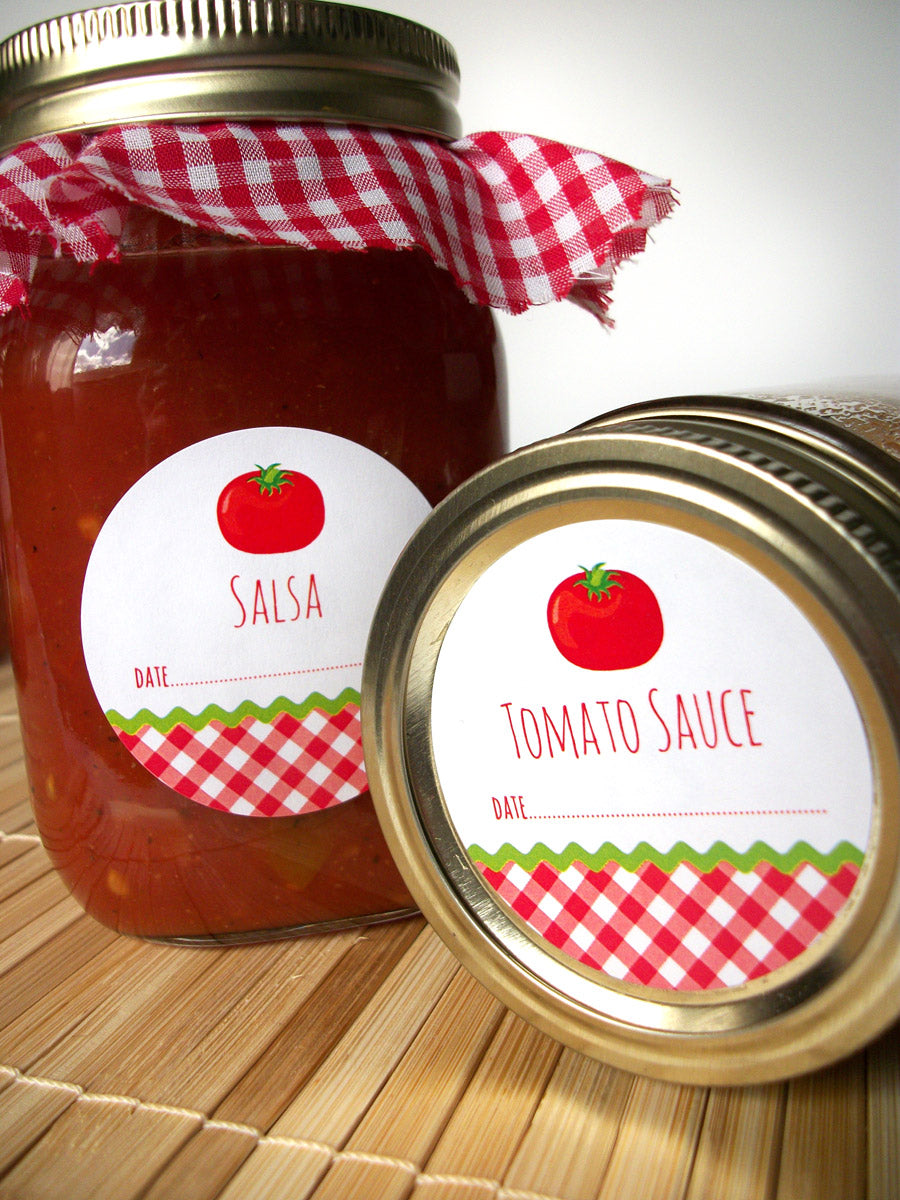 Tomato Sauce & Salsa Canning Labels | CanningCrafts.com
