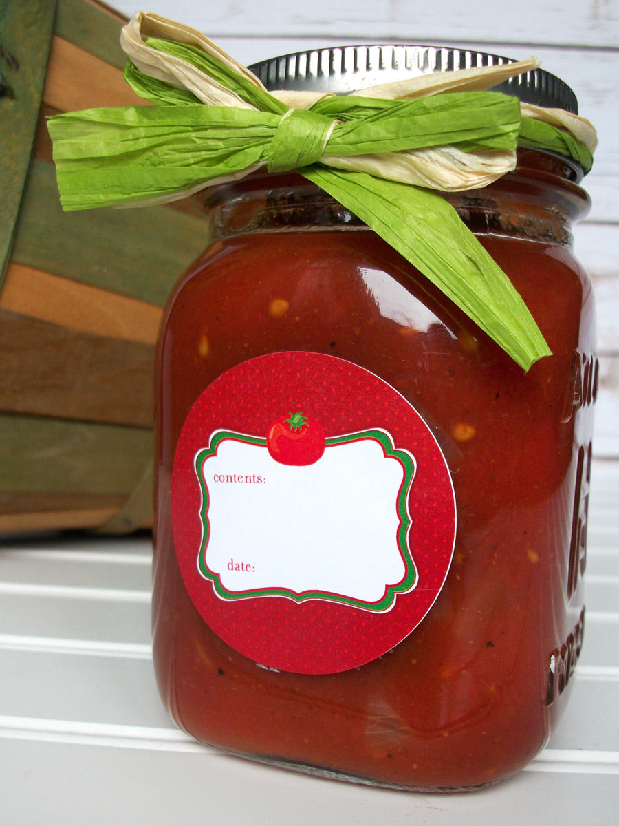 Tomato Canning Jar Labels | CanningCrafts.com
