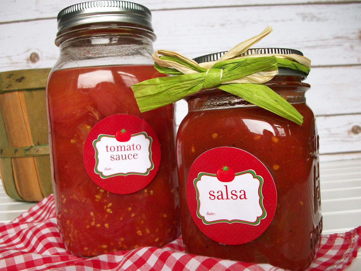 Tomato Sauce & Salsa Canning Jar Labels | CanningCrafts.com