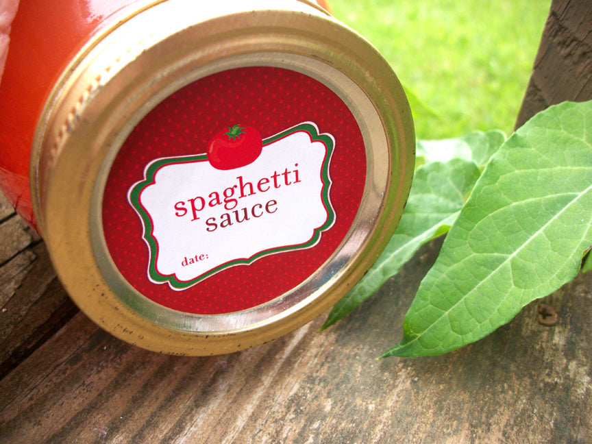 Tomato Spaghetti Sauce Canning Labels | CanningCrafts.com