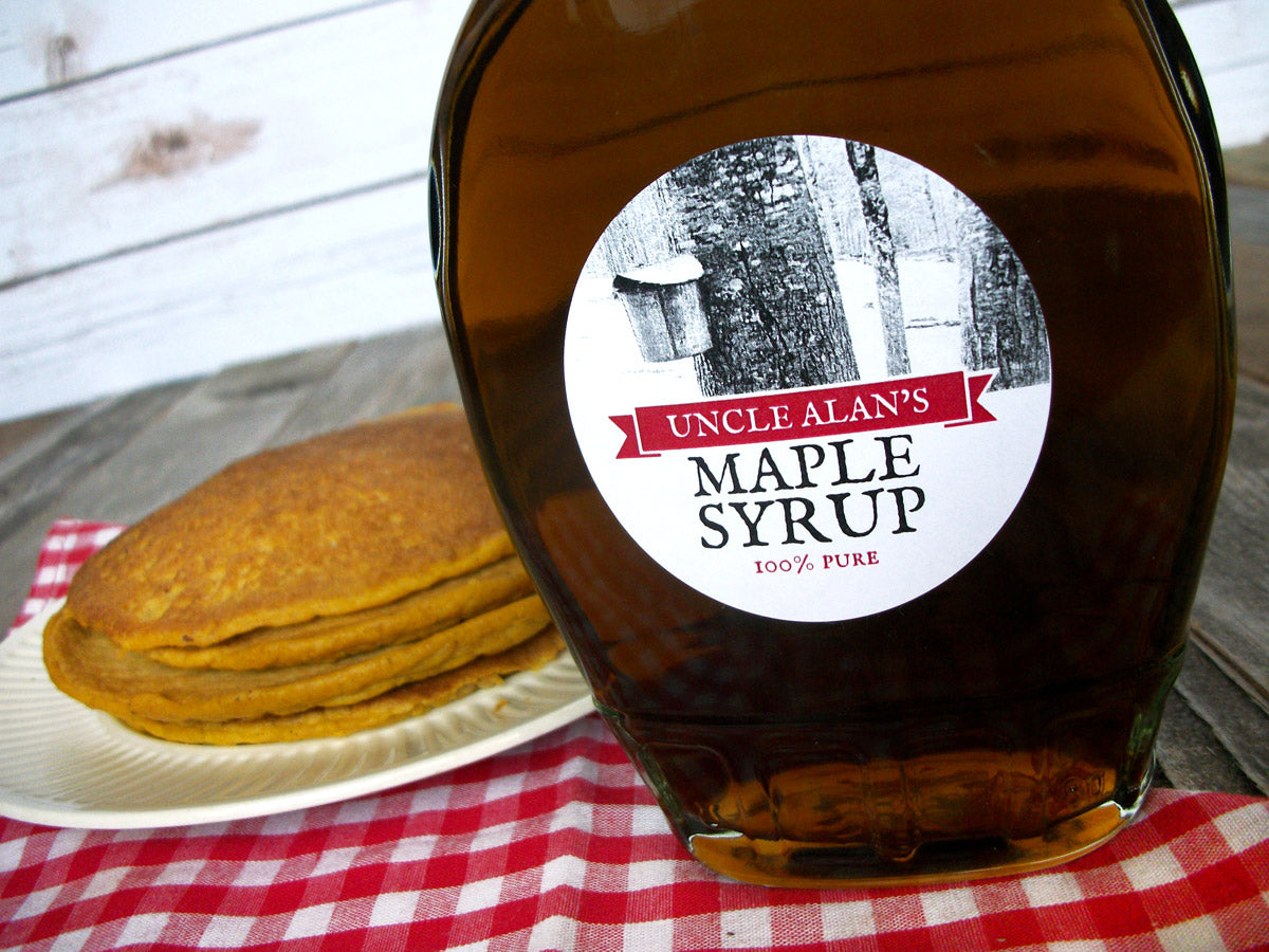 Tree Tapping custom Maple Syrup stickers | CanningCrafts.com