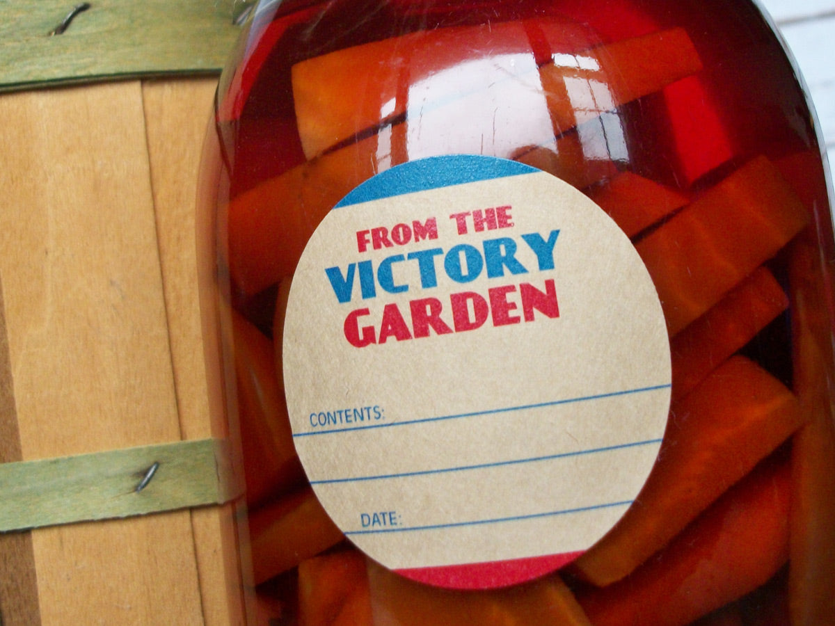 From the Victory Garden Canning Jar Labels | CanningCrafts.com