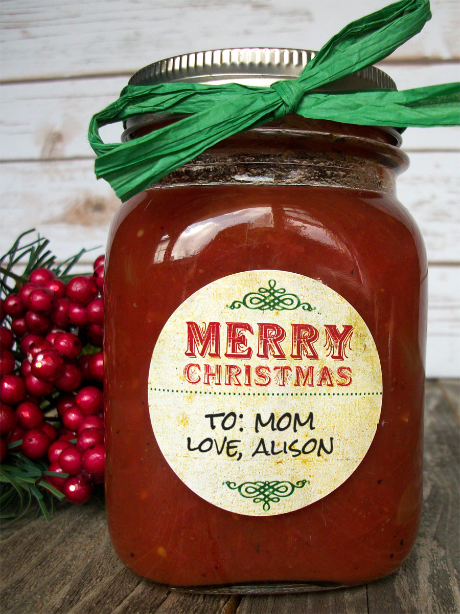 Vintage Christmas Canning Jar Labels | CanningCrafts.com
