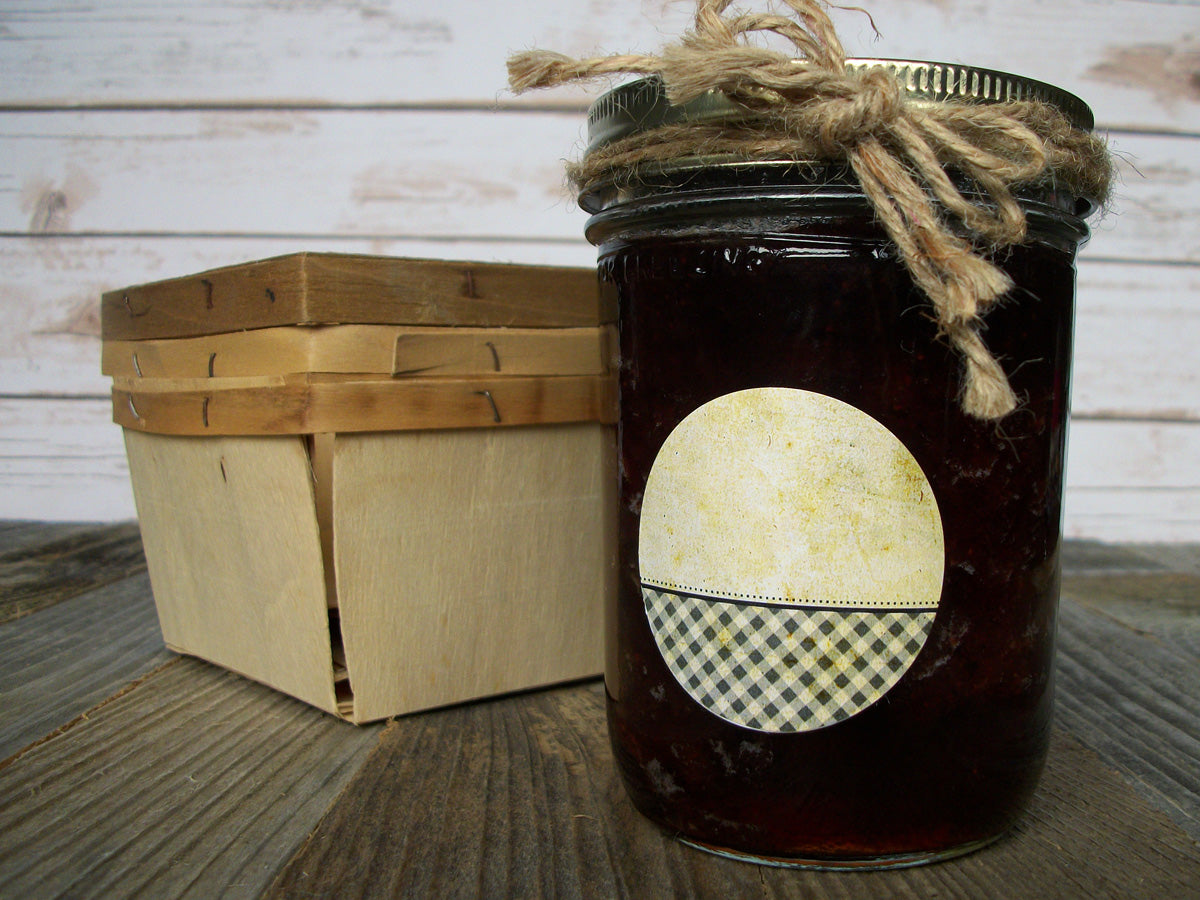 Vintage Checkered jam & jelly canning jar labels | CanningCrafts.com
