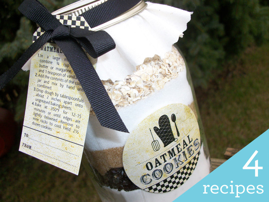 DIY Vintage Cookie Mason Jar Kit | CanningCrafts.com