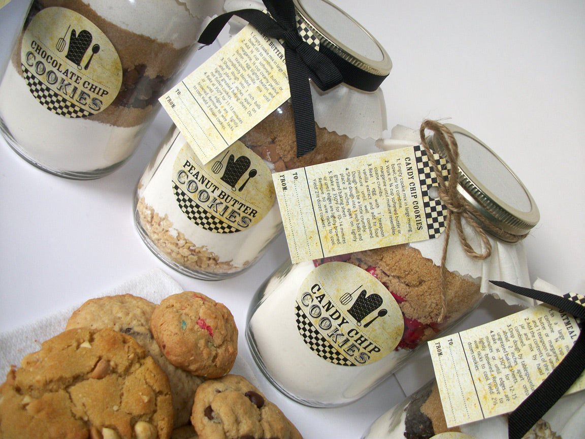 DIY Custom Vintage Mason Jar Cookie Kit with YOUR recipe | CanningCrafts.com