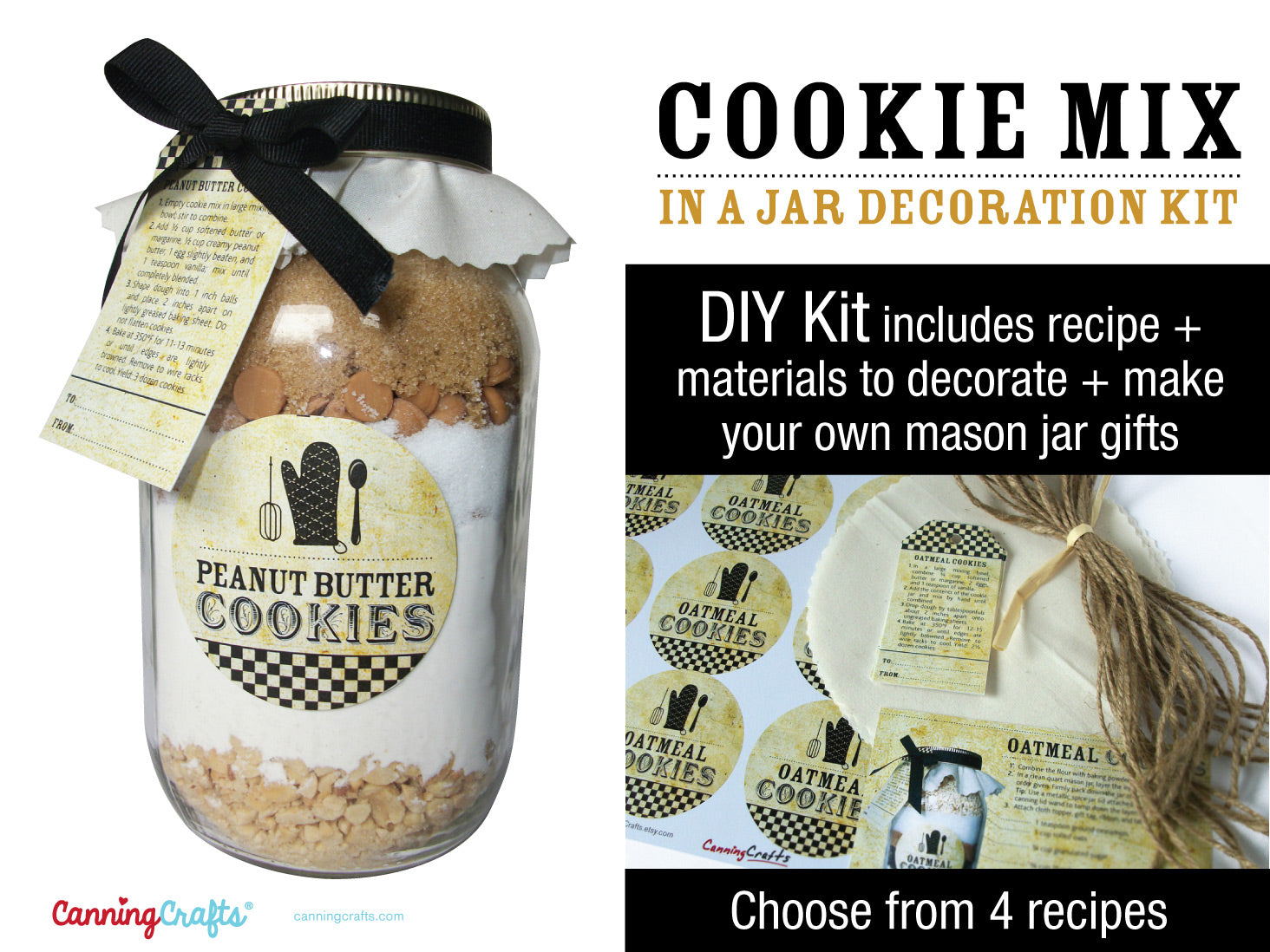 Vintage Cookie Mix in a Mason Jar Kit | CanningCrafts.com