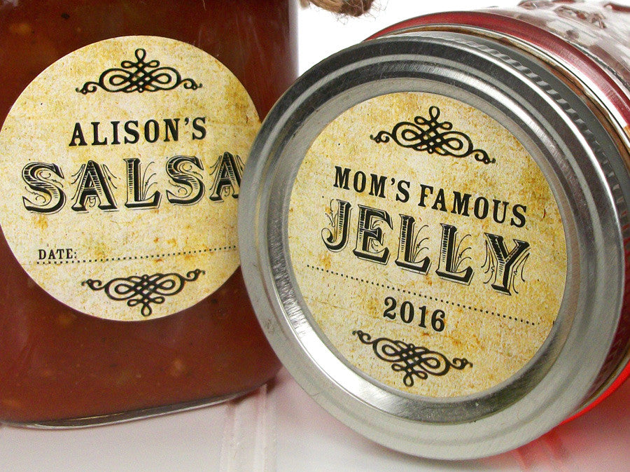 custom vintage canning label | CanningCrafts.com