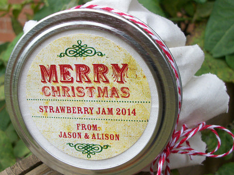 Custom Vintage Christmas Canning Labels | CanningCrafts.com