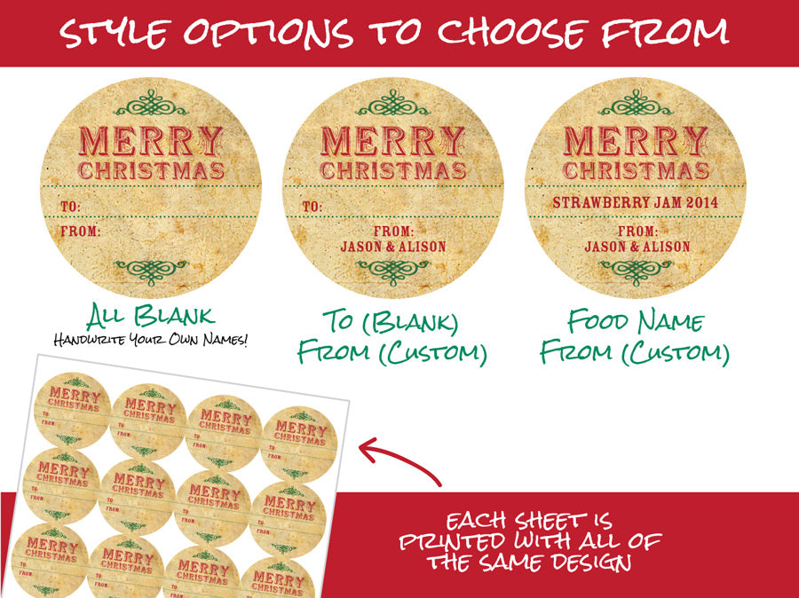 Custom Vintage Christmas Gift Labels | CanningCrafts.com