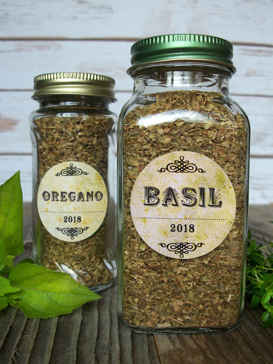 Custom Vintage Herb & Spice Jar Canning Labels | CanningCrafts.com