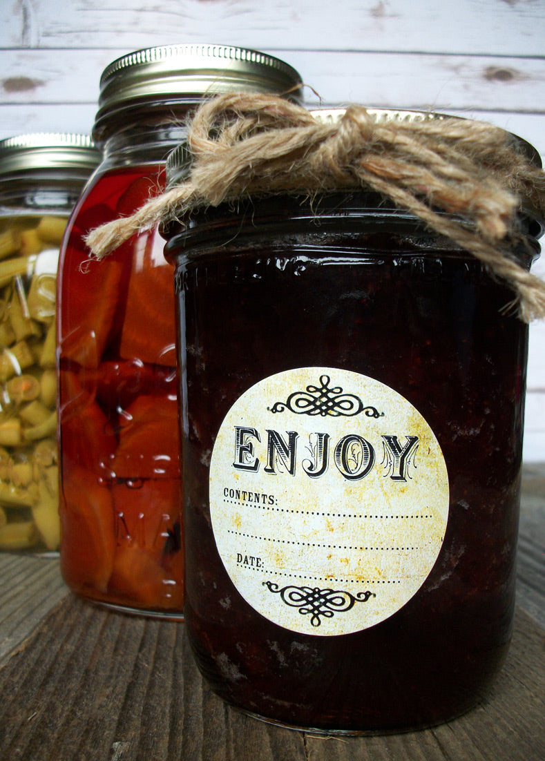 vintage Enjoy canning label | CanningCrafts.com