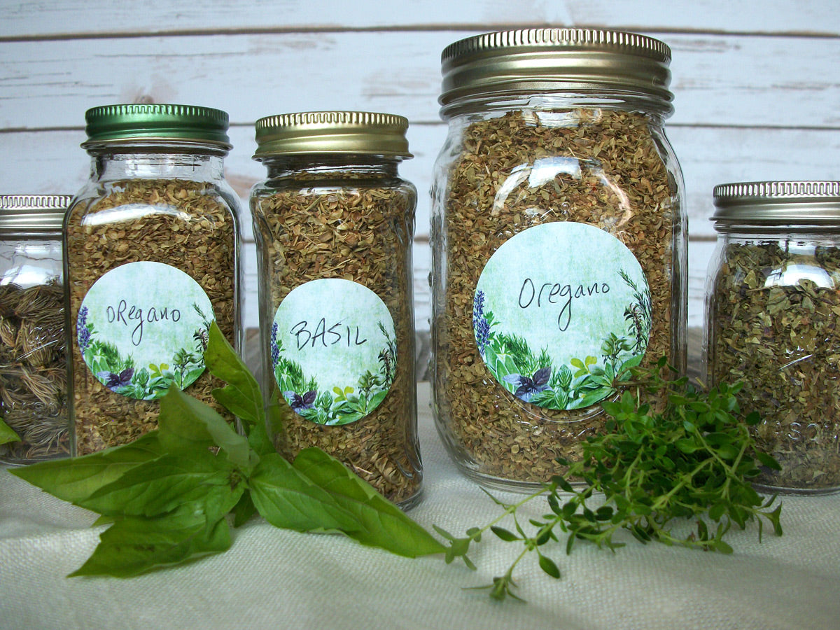 Vintage Herb & Spice Canning Labels | CanningCrafts.com