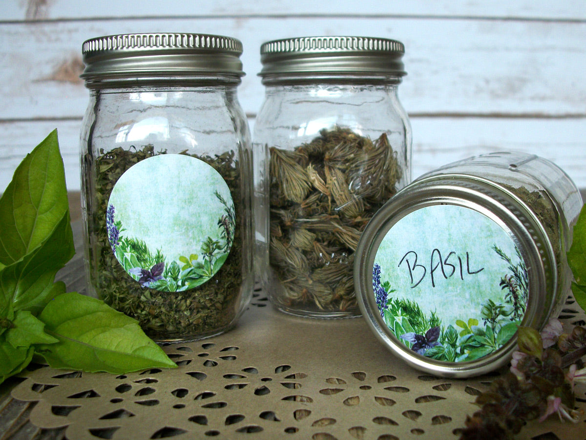 Vintage Herb & Spice Canning Jar Labels | CanningCrafts.com